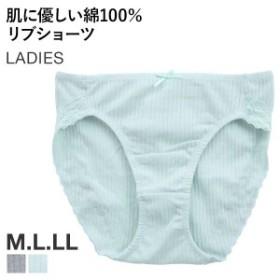 【メール便(4)】(T・S・L)肌に優しい 綿100% リブ ショーツ
