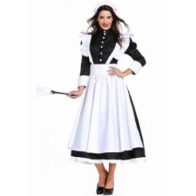 メイド服 レディース フランス風 レトロドレス 演出服 ヨーロッパ風 ステージ衣装  変装 仮装 ハロウィン衣装  コスチューム 文化祭