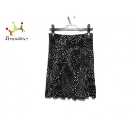 アニエスベー agnes b スカート サイズ2 M レディース 美品 黒×白 新着 20190719