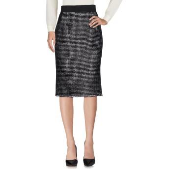 《セール開催中》DOLCE & GABBANA レディース 7分丈スカート ブラック 44 バージンウール 34% / シルク 20% / 毛(アルパカ) 17% / モヘヤ 17% / ナイロン 12%
