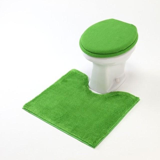 トイレマット 洗える すべりにくい シンプル おしゃれ ライム 標準マットのみ