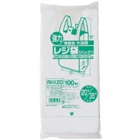 ジャパックス 業務用強力レジ袋 半透明 (東日本20号・西日本35号) RKK-20 ( 100枚入 )