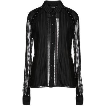 《セール開催中》JUST CAVALLI レディース シャツ ブラック 40 100% レーヨン
