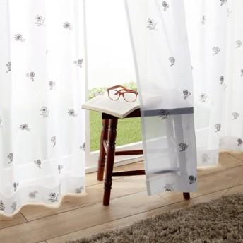 ベルメゾン 刺繍ボイルカーテン