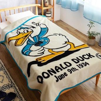 毛布 ディズニー レトロデザインのニューマイヤー毛布 ドナルドダック