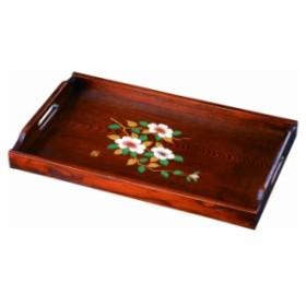 富士型長手盆 51cm さざんか 日本製 和歌山 トレイ お盆 盆 業務用 家庭用 23-27-4