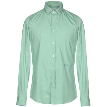 《セール開催中》BIKKEMBERGS メンズ シャツ ライトグリーン 38 75% コットン 21% ナイロン 4% ポリウレタン