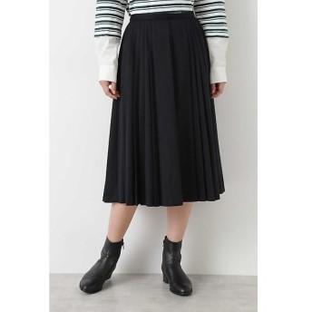 HUMAN WOMAN / ヒューマンウーマン ウールジャージプリーツスカート