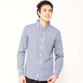 メンズ 柄バリ豊富・ボタンダウンシャツ【M〜LL】 「ブルーチェック」