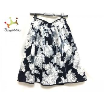 チェリーアン CHERRY ANN スカート サイズS レディース 新品同様 ネイビー×白 花柄 スペシャル特価 20190819
