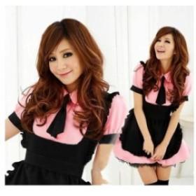 かわいい メイド コスプレ ショート丈 スカート セクシー ピンク