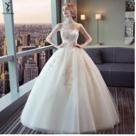 ビスチェドレス ウェディングドレス 優雅 Formal dress プリンセス フェミニン ロングドレス パーティードレス フォーマル 結婚式