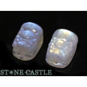 ☆高品質☆【天然石 彫刻置物】貔貅(ひきゅう) ムーンストーン (L)