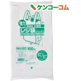 ジャパックス 業務用強力レジ袋 半透明 (東日本60号・西日本50号) RKK-60 ( 100枚入 )