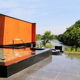 露天風呂のある「クアハウス碁点」宿泊券と スリルある「舟下り」ペアセット