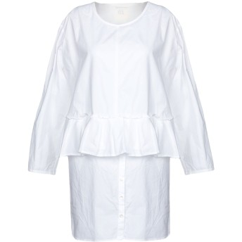 《セール開催中》SEMICOUTURE レディース ミニワンピース&ドレス ホワイト 42 コットン 100%