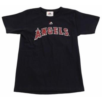 MJ・MLB ジュニア 大谷翔平 ロサンゼルス・エンゼルス ネーム&ナンバーTシャツ MM08-ANG-0098-NVY5-17Jr (Jr)