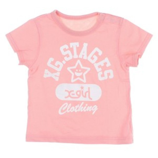 x-girl first stage  / エックスガールファーストステージ キッズ Tシャツ・カットソー 色:ピンク系 サイズ:90