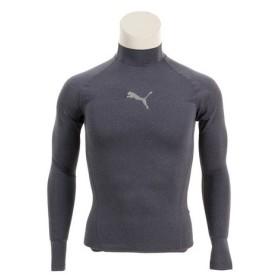 プーマ(PUMA) テック ライト ロングスリーブモックネック ヘザーTシャツ 517543 02 NVY (Men's)
