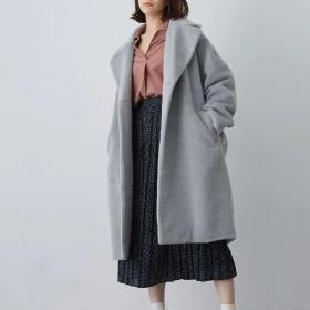 【5,000円以上お買物で送料無料】women ドロップショルダービッグコート