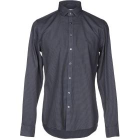《セール開催中》CALVIN KLEIN メンズ シャツ ダークブルー 44 コットン 100%