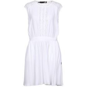 《期間限定 セール開催中》LOVE MOSCHINO レディース ミニワンピース&ドレス ホワイト 44 100% レーヨン コットン ポリエステル