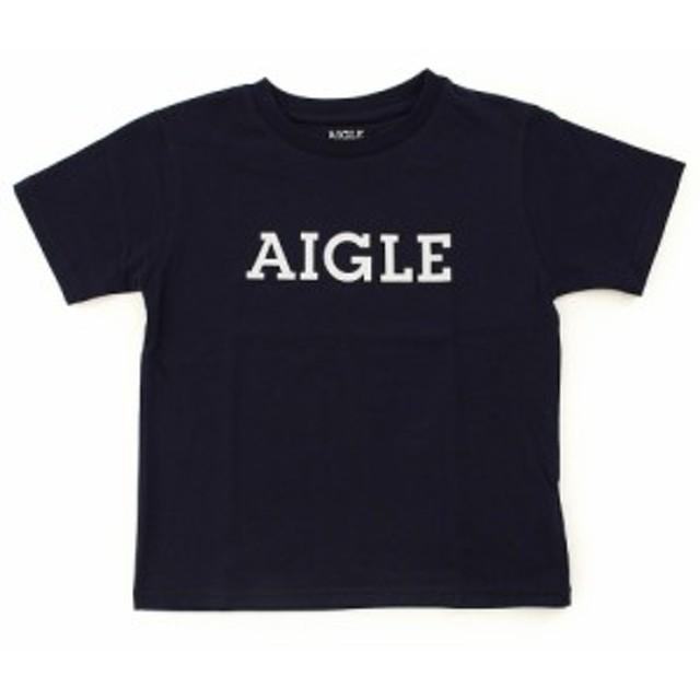 AIGLE 吸汗速乾 DFTキッズロゴ 半袖Tシャツ ZTJ001J-075 (Jr)