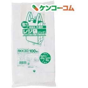 ジャパックス 業務用強力レジ袋 半透明 (東日本30号・西日本40号) RKK-30 ( 100枚入 )
