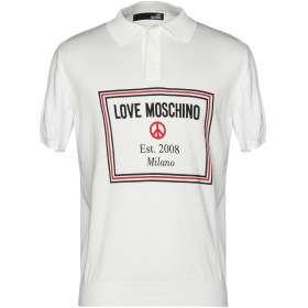 《セール開催中》LOVE MOSCHINO メンズ プルオーバー ホワイト L 100% コットン