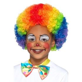 ピエロ ウィッグ 子供用 アフロ マルチカラー レインボー Clown Wig, Multi-Coloured, Kids