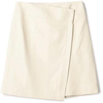 ESTNATION / レザーラップミニスカート アイボリー/36(エストネーション)◆レディース スカート