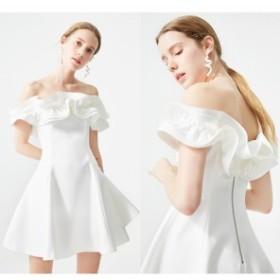 パーティードレス 半袖 パーティードレス 半袖 レース 袖あり 結婚式 ドレス ワンピース 大きい ロング ミモレ丈 結婚式ドレス kh-0548