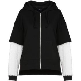 《期間限定 セール開催中》SHOESHINE レディース スウェットシャツ ブラック M 70% コットン 30% ポリエステル