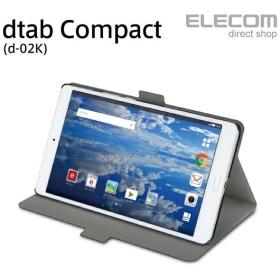 dtabCompact(d-02K)ケースフラップカバー軽量スリム ブラック┃TBD-HW68WVFUBK アウトレット エレコム わけあり
