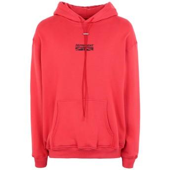 《セール開催中》REPRESENT メンズ スウェットシャツ レッド XS コットン 100%
