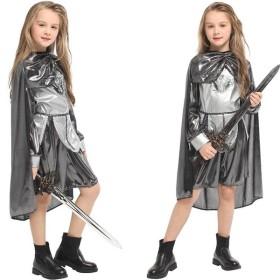 コスプレ衣装 キッズ 鎧 騎士 ハロウィン ナイツ 戦士 着ぐるみ 女の子 子供 キッズ 変装 仮装 コスチューム G-0334