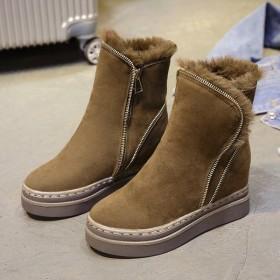 ムートンブーツ ショートブーツ ボアインソール あったか 靴 レディースシューズ 歩きやすい 美脚 ムートン ファーシューズ 裏起毛 防寒 厚底 スニーカー
