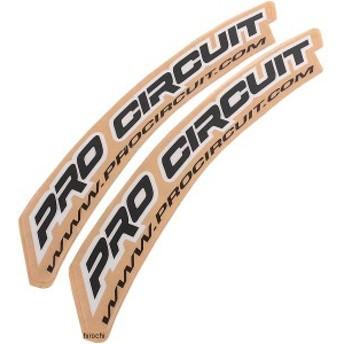 プロサーキット Pro Circuit フロントフェンダーステッカー 黒 WO店