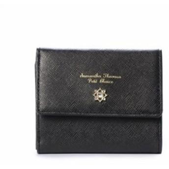 サマンサタバサ 折財布 フラワーモチーフシリーズ ブラック SamanthaThavasaPetitChoice