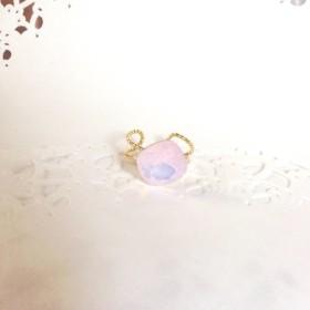 ピンクオパールのリング