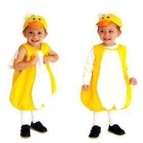 コスプレ衣装 キッズ 赤ちゃん アヒル ハロウィン コスプレ 着ぐるみ 女の子 男の子 子供 ベビー 変装 仮装 コスチューム S-0002