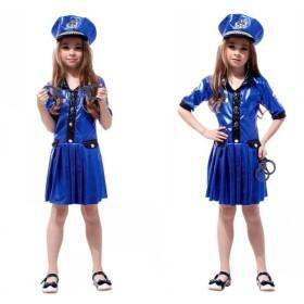 コスプレ衣装 キッズ 警察 制服 職業 ハロウィン コスプレ 着ぐるみ 女の子 子供 キッズ 変装 仮装 コスチューム G-0139