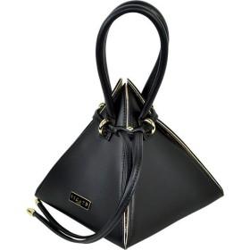 イタリア バッグ BECATO PYRAMID ピラミッド型バッグ ショルダーストラップ付 黒