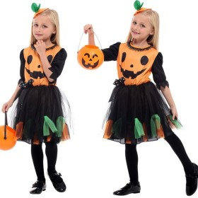 ハロウィン 仮装 子供 かぼちゃ 魔女 ウィッチ コスプレ 着ぐるみ 職業仮装 変装 コスチューム キッズ用 ワンピース ドレス 女の子 G-0255