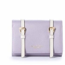 サマンサタバサ 折財布 ダブルベルトデザインシリーズ かぶせ ピンク SamanthaThavasaPetitChoice