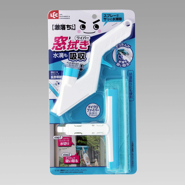 日本進口-激落 手持噴霧輕鬆清掃玻璃刷(附抹布)