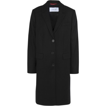 《期間限定セール開催中!》CALVIN KLEIN レディース コート ブラック 36 ウール 70% / ナイロン 30% WOOL LONG COAT