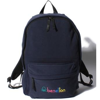 UNITED COLORS OF BENETTON ユナイテッド カラーズ オブ ベネトン ロゴ入りスウェットリュック