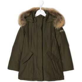 Woolrich Kids racoon fur trim jacket - グリーン