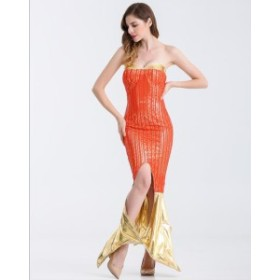 5483d302c7e39 衣装服 ドレス ハロウィン パフォーマンス 舞台衣装 パーティー歌手服 イベント女ダンス マーメイド
